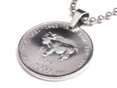 Anhänger Sternzeichen Ziege Münze 10 Schilling Somaliland Ø 25 mm
