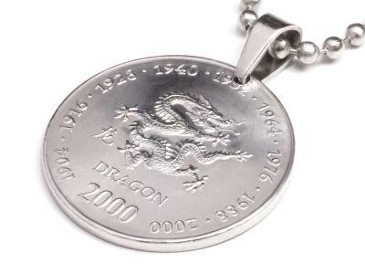 Anhänger Sternzeichen Drache Münze 10 Schilling Somaliland Ø 25 mm