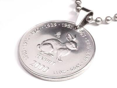 Anhänger Sternzeichen Hase Münze 10 Schilling Somaliland Ø 25 mm