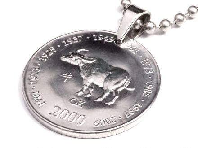Anhänger Sternzeichen Büffel Münze 10 Schilling Somaliland Ø 25 mm