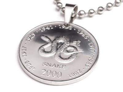 Anhänger Sternzeichen Schlange Münze 10 Schilling Somaliland Ø 25 mm