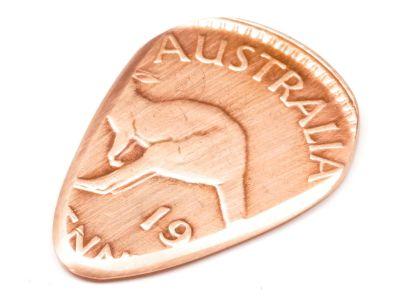 Metall Plektrum one Penny Münze Australien Känguru / König George V
