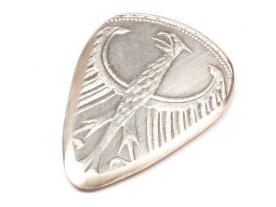 Metall Plektrum 5 Mark Münze Deutschland Silberadler Silber 625er